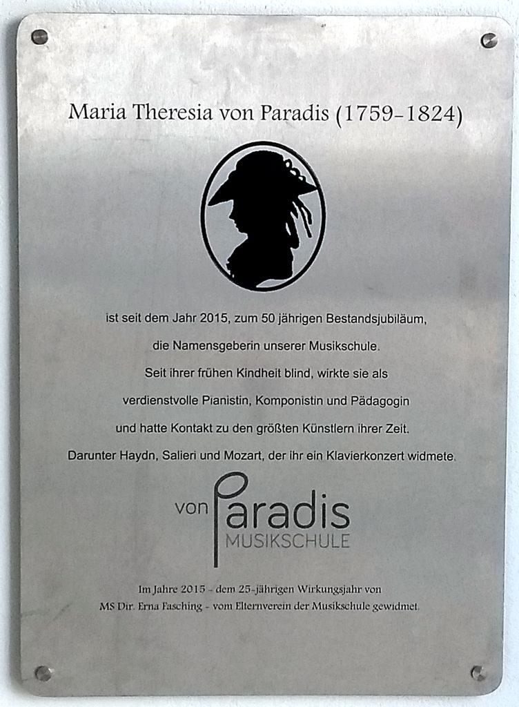 Maria Theresia von Parádis (1759 – 1824)
